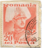Carol II Posta, 1935, 20 lei, obliterat (3), Regi, Stampilat