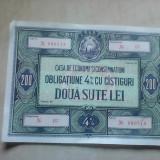 Obligatiuni CEC , 200 lei  , 5 buc