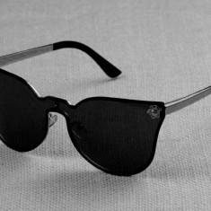 Ochelari Catseye similari cu Versace - protectie UV400 - unisex, Femei, Negru, Protectie UV 100%, Metal