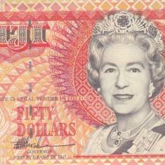 Bancnota Fiji 50 Dolari (1996) - P100b UNC ( rara - valoare catalog $300!! )