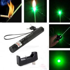 Laser Verde Pointer Acumulator 5800 mAh Puternic Incarcator