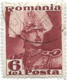 Carol II Posta, 1935, 6 lei, obliterat (5), Regi, Stampilat