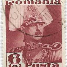 Carol II Posta, 1935, 6 lei, obliterat (5) - Timbre Romania, Regi, Stampilat