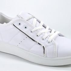 Adidasi de dama albi masura 40 41 - Adidasi dama, Culoare: Din imagine, Piele sintetica