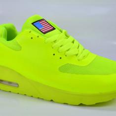 Adidasi verde fosforescent poze reale 40 41 42 43 44 45 - Adidasi barbati, Culoare: Din imagine, Piele sintetica