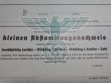WWII - DOCUMENT NAZIST - NSDAP - CERTIFICAT DE PURITATE RASIALA
