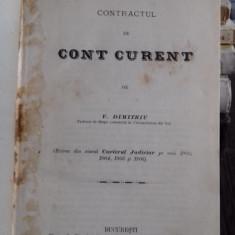 CONTRACTUL DE CONT CURENT - V. DIMITRIU
