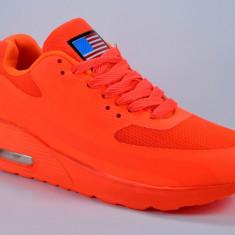 Adidasi de dama cu perna de aer orange 35 37 38 39 40 - Adidasi dama, Culoare: Din imagine, Marime: 36, Textil