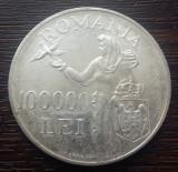 (A161) MONEDA DIN ARGINT ROMANIA - 100.000 LEI 1946, REGELE MIHAI I