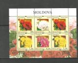 MOLDOVA 2012 - FLORI. TRANDAFIRI. COLITA NESTAMPILATA, PT19