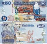 ZAMBIA 50 kwacha 2012 UNC!!!