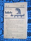 Revista BILETE DE PAPAGAL - T. ARGHEZI (No. 32, Vol. IV)