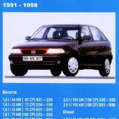 Manual SERVICE - OPEL ASTRA (1991-1998) - versiune imprimată laser, pe comandă - Manual auto, Manual reparatie auto