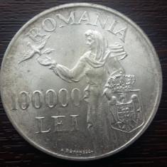 (A132) MONEDA DIN ARGINT ROMANIA - 100.000 LEI 1946, REGELE MIHAI I - Moneda Romania