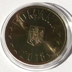 ROMANIA 50 BANI 2018 UNC vulturul cu coroana DIN FISIC - IN CAPSULA ** - Moneda Romania