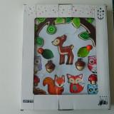 Carusel pentru patut, arcada cu jucarii/animale din padure de agatat la patut - Carusel patut, 0-3 luni, Unisex, Multicolor