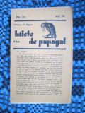 Revista BILETE DE PAPAGAL - T. ARGHEZI (No. 33, Vol. IV)