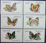 PILIPINAS - FLUTURI,  6 V, NEOBLIT. - PHL 08, Fauna
