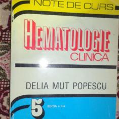 Hematologie clinica an 1999/337pag- Delia Mut Popescu