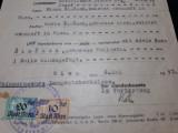 WWII - DOCUMENT NAZIST STAMPILA  CU ZVASTICA - CERTIFICAT DE DECES ANUL 1943