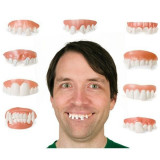Dinti falsi haiosi, proteze dentare amuzante, latex, set 9 bucati