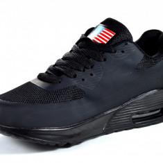 Adidasi de dama cu perna de aer pe negru