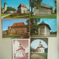 Manastiri - Lot 25 carti postale RSR, Ambele, Fotografie, Romania de la 1950