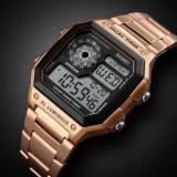 Ceas Military SKMEI , cronograf, data, waterproof 50M inot bratara inox, Lux - sport, Quartz