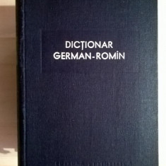 Dictionar german-roman {Ed. Stiintifica, 1958}