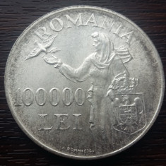 (A141) MONEDA DIN ARGINT ROMANIA - 100.000 LEI 1946, REGELE MIHAI I - Moneda Romania