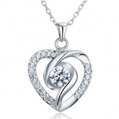 Colier Heart Diamonds Argint 925 by Borealy - Colier argint
