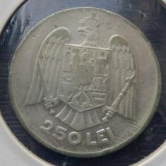 (R) MONEDA DIN ARGINT ROMANIA - 250 LEI 1935, CAROL II, MAI RARA - Moneda Romania