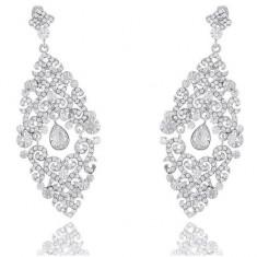 Cercei Borealy Diamonds Chandelier Oriental - Cercei placati cu aur