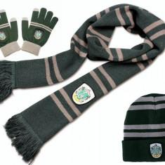 Pachet Harry Potter Fular Manusi Caciula Harry Potter Slytherin