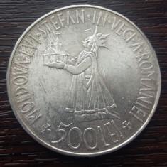(A133) MONEDA DIN ARGINT ROMANIA - 500 LEI 1941, REGELE MIHAI I - STEFANITA - Moneda Romania