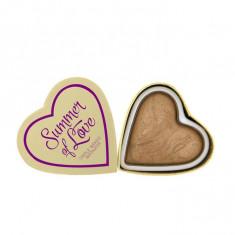 Iluminator Makeup Revolution I Heart Makeup Blushing Hearts Baked Highlighter Summer Of Love 10g
