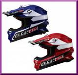 CASCA MOTOCROSS LS2 MX456 LAUNCH -Rosu/Albastru, L, M, S
