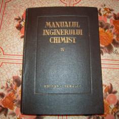 Carte: Manualul inginerului chimist IV - 1954, Stare foarte buna