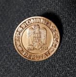 Insigna Deputat - Parlamentul Romaniei - stema cu coroana