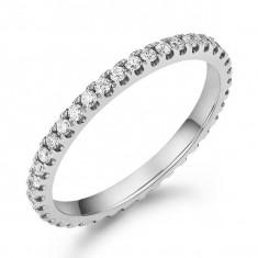Inel Borealy Aur Alb 14 K Natural Diamonds Eternity Band - Inel aur alb