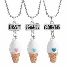 Set Medalioane Lantisoare BFF Best Friend Friends Forever Inghetata - Lantisor fashion