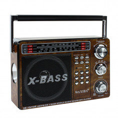 Mini radio portabil cu 3 frecvente, MP3 player, slot TF, SD, USB, Waxiba - Aparat radio