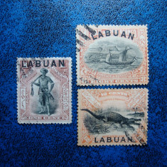 LOT LABUAN 1897, Stampilat