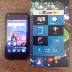 Zte l 110 - Telefon mobil ZTE, Negru, 4GB, Orange, Quad core, 512 MB