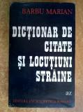 Barbu Marian – Dictionar de citate si locutiuni straine