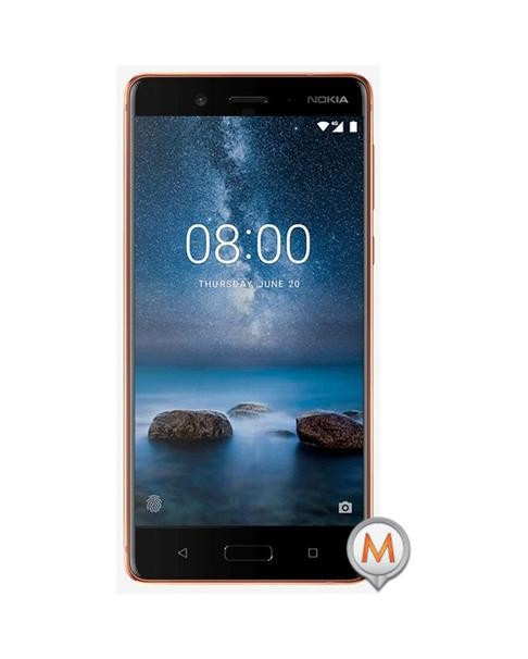 Nokia 8 Dual SIM 64GB with Clear Protective Case Bronz