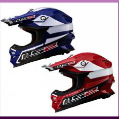 CASCA ENDURO LS2 MX456 LAUNCH -Rosu/Albastru - Casca moto LS2, Marime: S, M, L
