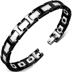 Bratara ceramica alba si neagra si magneti - Bratara magnetice