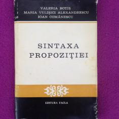 Sintaxa propozitiei/Colectiv/editura Facla/texte si analize/1977