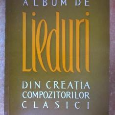 Album de lieduri din creatia compozitorilor clasici